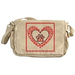 Hearts and paw prints Messenger Bag