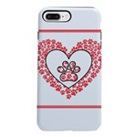 Hearts and paw prints iPhone 8/7 Plus Tough Case