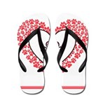 Hearts and paw prints Flip Flops