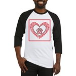 Hearts and paw prints Baseball Jersey