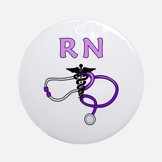 RN Nurse Medical Ornament (Round)
