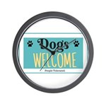 Dogs welcome, people tolerated Wall Clock