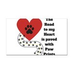 The road to my heart is paved with paw prints Rect