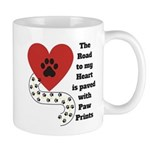 The road to my heart is paved with paw prints Mugs