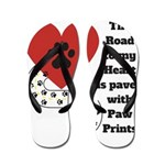 The road to my heart is paved with paw prints Flip