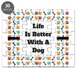 Life is better with a dog Puzzle