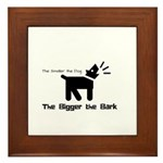 Small dog, big bark Framed Tile