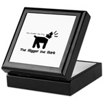 Small dog, big bark Keepsake Box