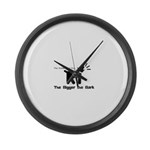 Small dog, big bark Large Wall Clock