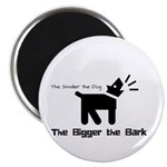 Small dog, big bark Magnets