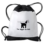 Small dog, big bark Drawstring Bag