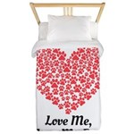 Love me love my dog 2 Twin Duvet Cover