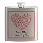 Love me love my dog 2 Flask