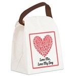 Love me love my dog 2 Canvas Lunch Bag