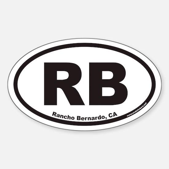Rancho Bernardo RB Euro Oval Decal