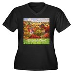 The Village Women's Plus Size V-Neck Dark T-Shirt
