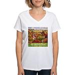 The Village Green Women's V-Neck T-Shirt