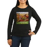 The Village Green Women's Long Sleeve Dark T-Shirt