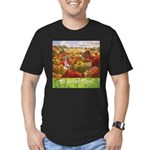 The Village Green Men's Fitted T-Shirt (dark)