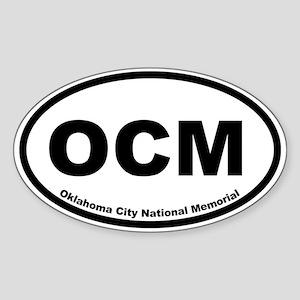 Oklahoma City National Memorial Oval Sticker