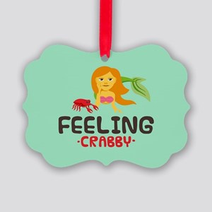 Emojione Mermaid Crabby Picture Ornament