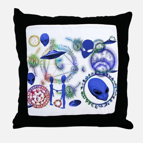 A.L.I.E.N. Arcane Circles 12 Throw Pillow