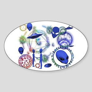 A.L.I.E.N. Arcane Circles 12 Oval Sticker