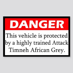 Danger Attack Timneh Rectangle Sticker