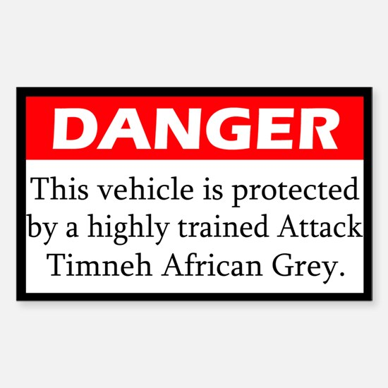 Danger Attack Timneh Rectangle Decal