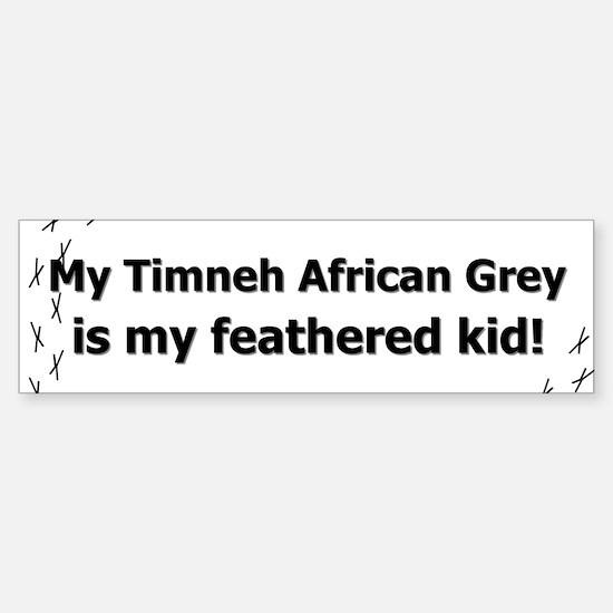 Timneh African Grey Feathered Kid Bumper Bumper Bumper Sticker