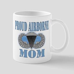 Proud Airborne Mom Clouds Mug