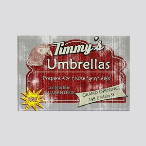 Timmy's Umbrellas Rectangle Magnet