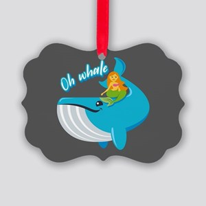 Emojione Mermaid Oh Whale Picture Ornament