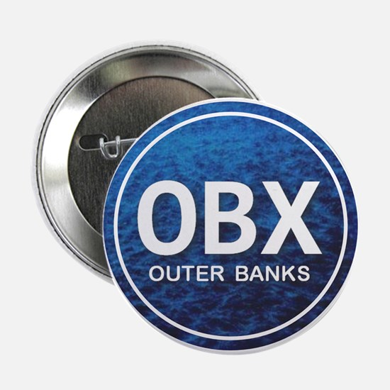 """OBX - Outer Banks 2.25"""" Button"""