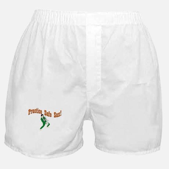 Practice Safe Sax! Boxer Shorts