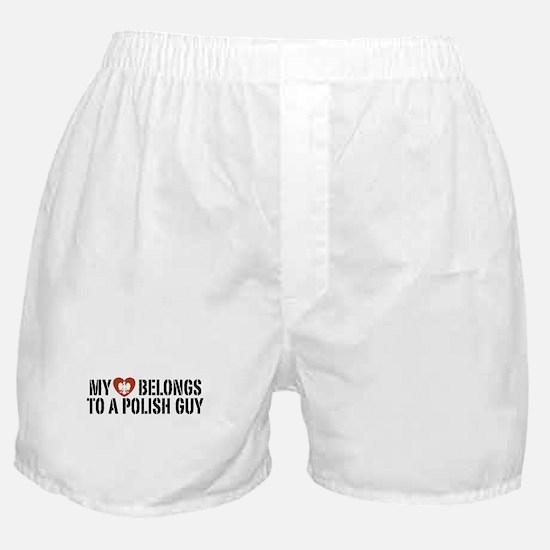 My Heart belongs to a Polish Guy Boxer Shorts