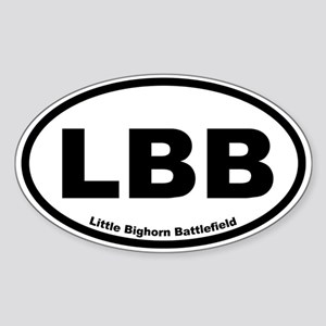Little Bighorn Battlefield Oval Sticker
