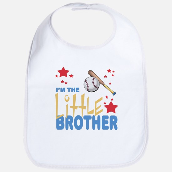 I'm the Little Brother Baseball Baby Infant Bib