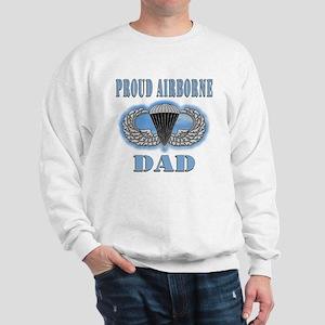 Proud Airborne Dad clouds Sweatshirt