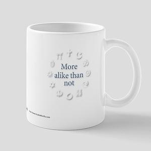 Interfaith/Multifaith More-alike-than-not Mug