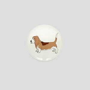 Basset Hound Mini Button