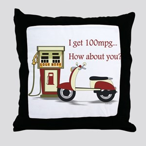 100 mpg Throw Pillow