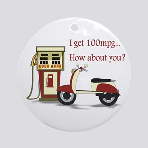100 mpg Ornament (Round)