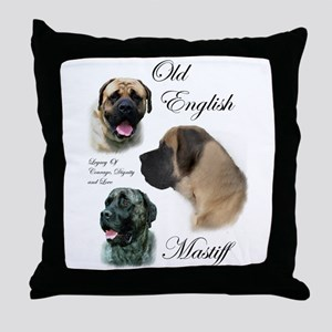 Old English Mastiff Throw Pillow