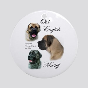 Old English Mastiff Ornament (Round)