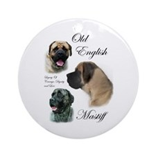 Old English Mastiff Ornament (Round)