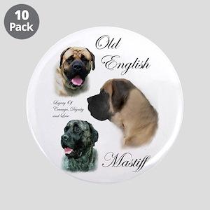"Old English Mastiff 3.5"" Button (10 pack)"
