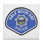 Half Moon Bay Police Tile Coaster