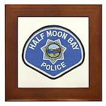 Half Moon Bay Police Framed Tile