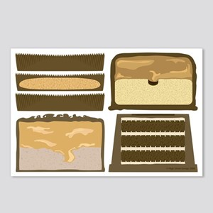 Candybar CrossSection Postcards Package of 8